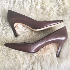Brooks Brothers Brown Leather Heels